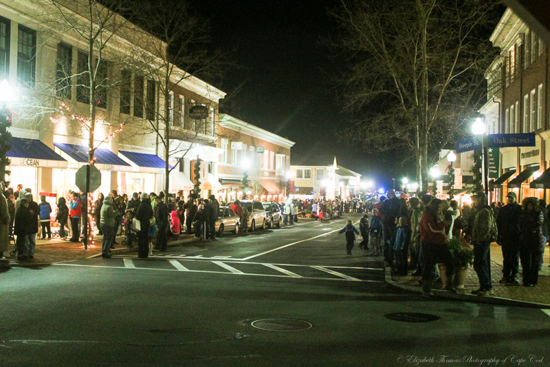 The parade route. Mashpee Commons