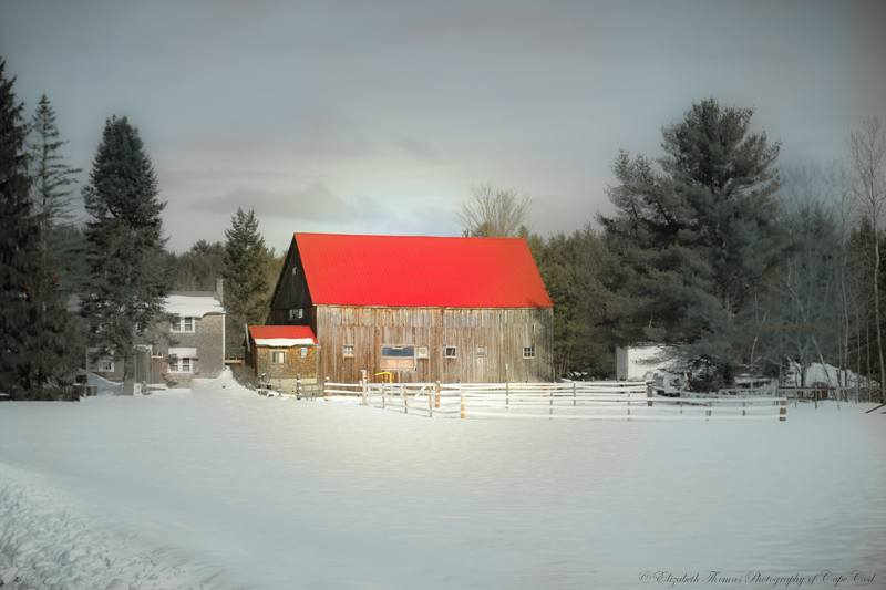 Red Roofed Barn, Denmark Maine, Print available for purchase on ETSY here...