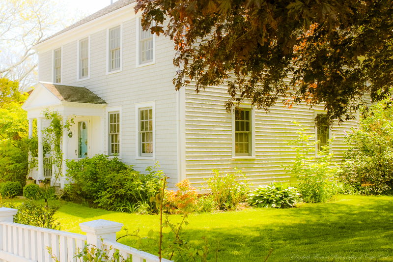 Quintessential antique New England Colonial home. Print available here...