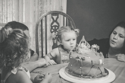 Trying to blow out candles