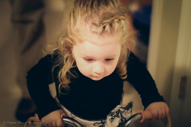 Morgan riding her new bike.
